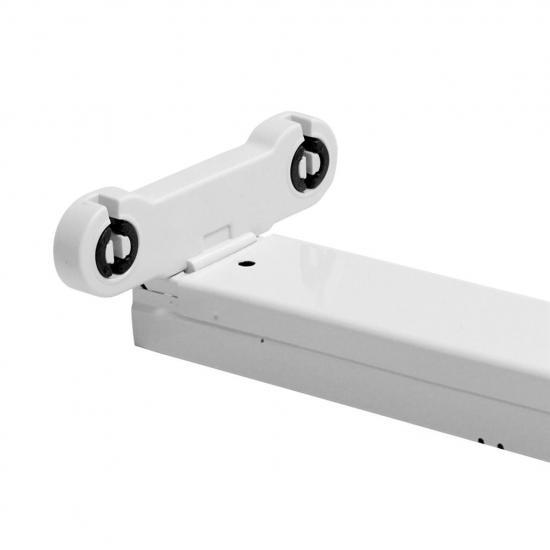 ART Oprawa dla 2szt.TUB LED T8, 60cm,  AC-230V, zasil.jednostronne,biała