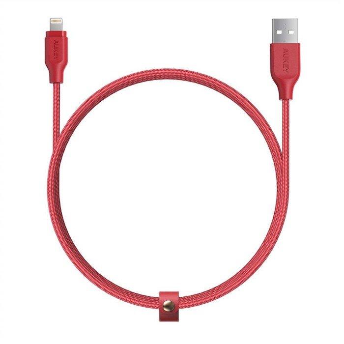 AUKEY CB-AL1 nylonowy kabel Ligtning QC 3.0 1.2m