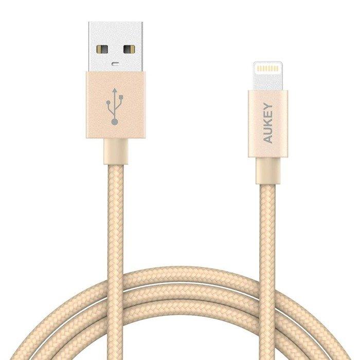 AUKEY CB-D16 nylonowy kabel Lightning MFi QC 1.2m