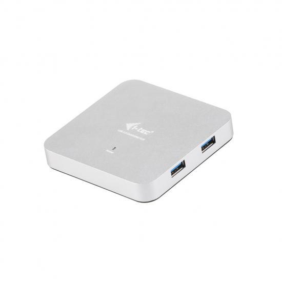 Aktywny HUB i-tec Metal 4x USB 3.0 LED zasilacz