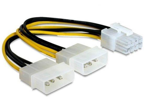 Gembird kabel zasilający wewnętrzny PCI-e 8 pin -> 2x 4 pin Molex