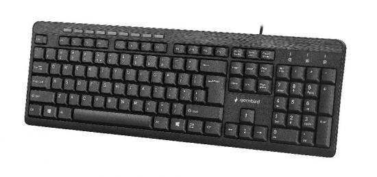 Gembird klawiatura multimedialna KB-UM-106, USB, US layout, czarna