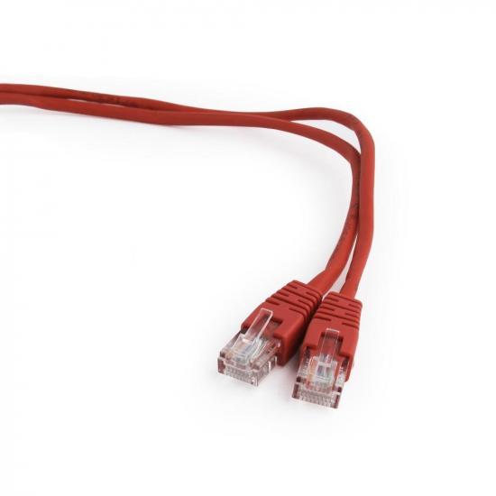 Gembird patchcord RJ45, osłonka zalewana, kat. 5e, UTP, 0,25m, czerwony