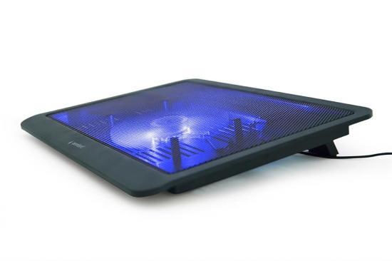 Gembird podstawka do notebooka/laptopa 15'', 1x wentylator LED, czarna