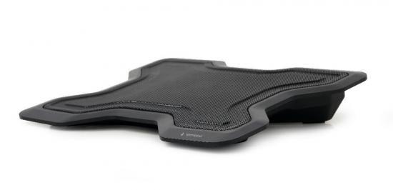 Gembird podstawka do notebooka/laptopa 15,6'', 1x wentylator LED, czarna