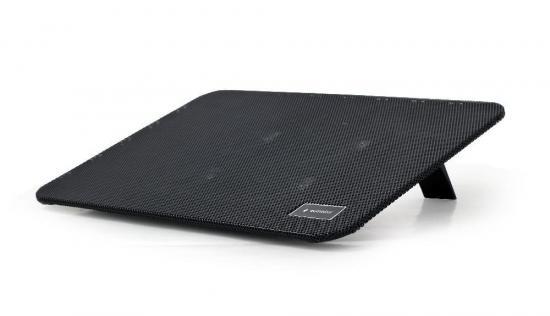 Gembird podstawka do notebooka/laptopa 15,6'', 4x wentylator LED, czarna