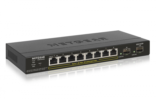 Netgear S350 Smart 8-Port PoE+ 2 x SFP Gigabit Switch Metal (GS310TP)